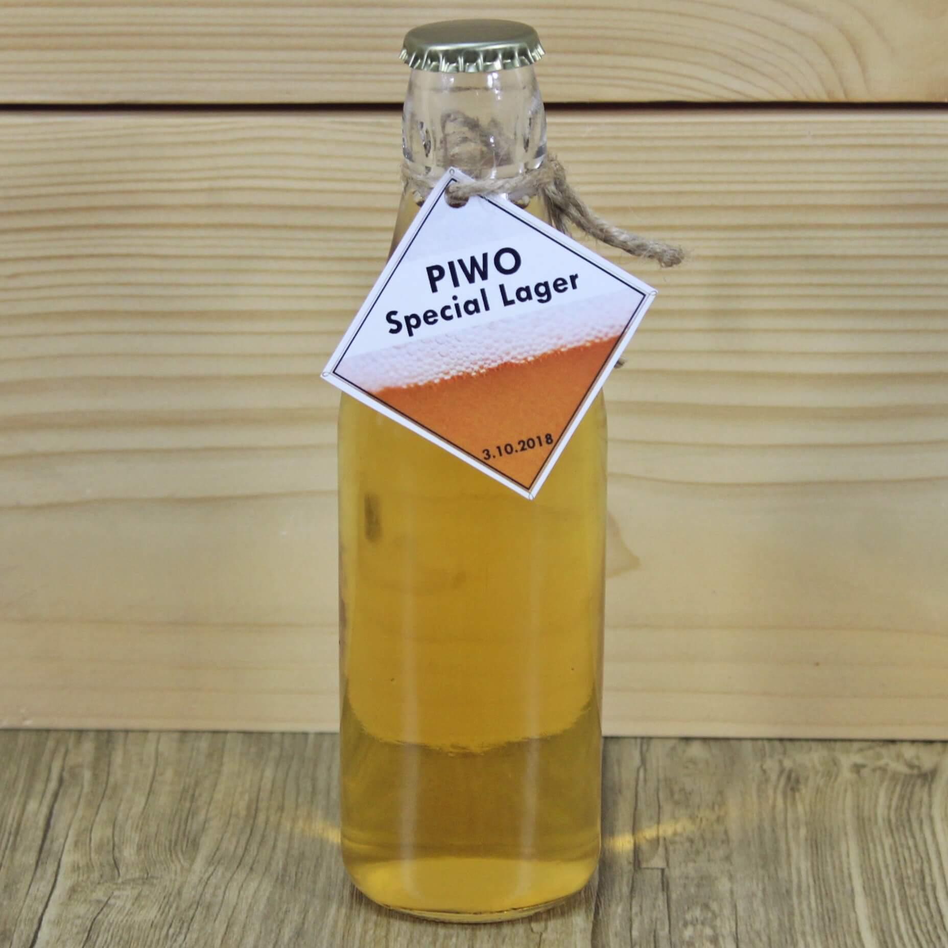 Domowe piwo w butelce na kapsel z Chomika