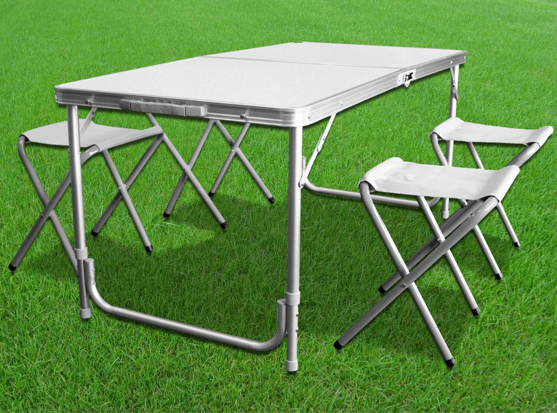 Zestaw turystyczny - składany stół i taborety