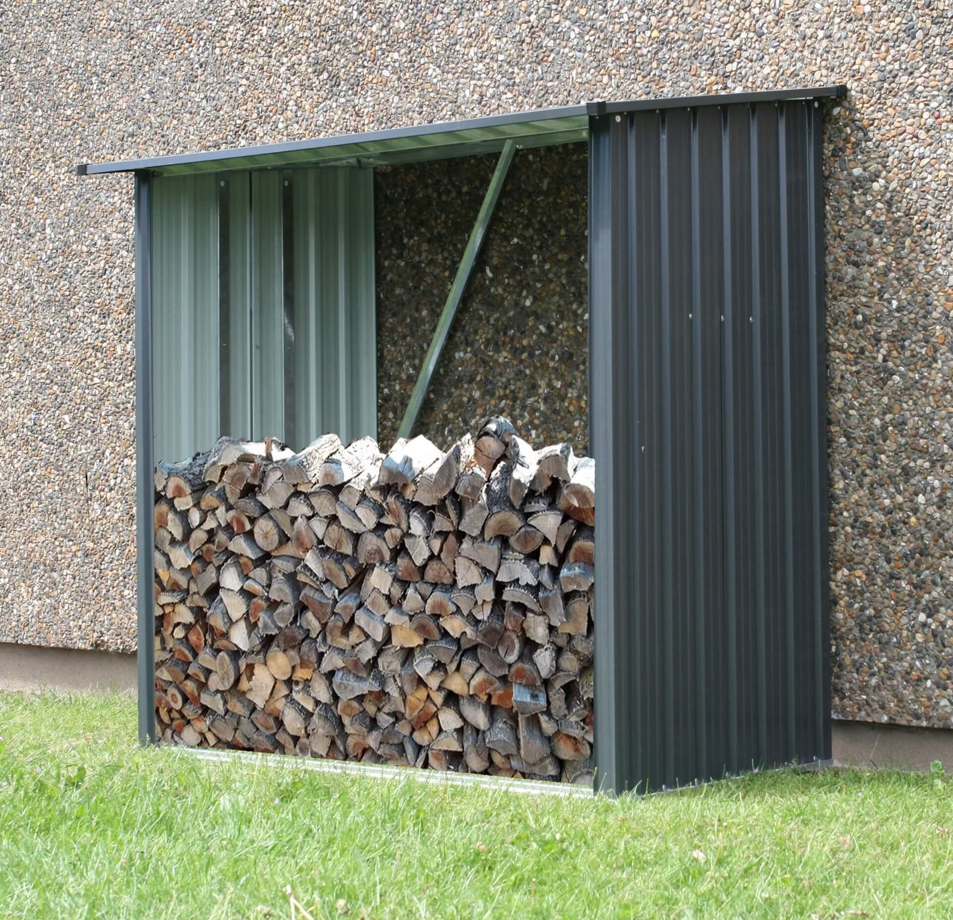 Drewutnia metalowa - domek na drewno