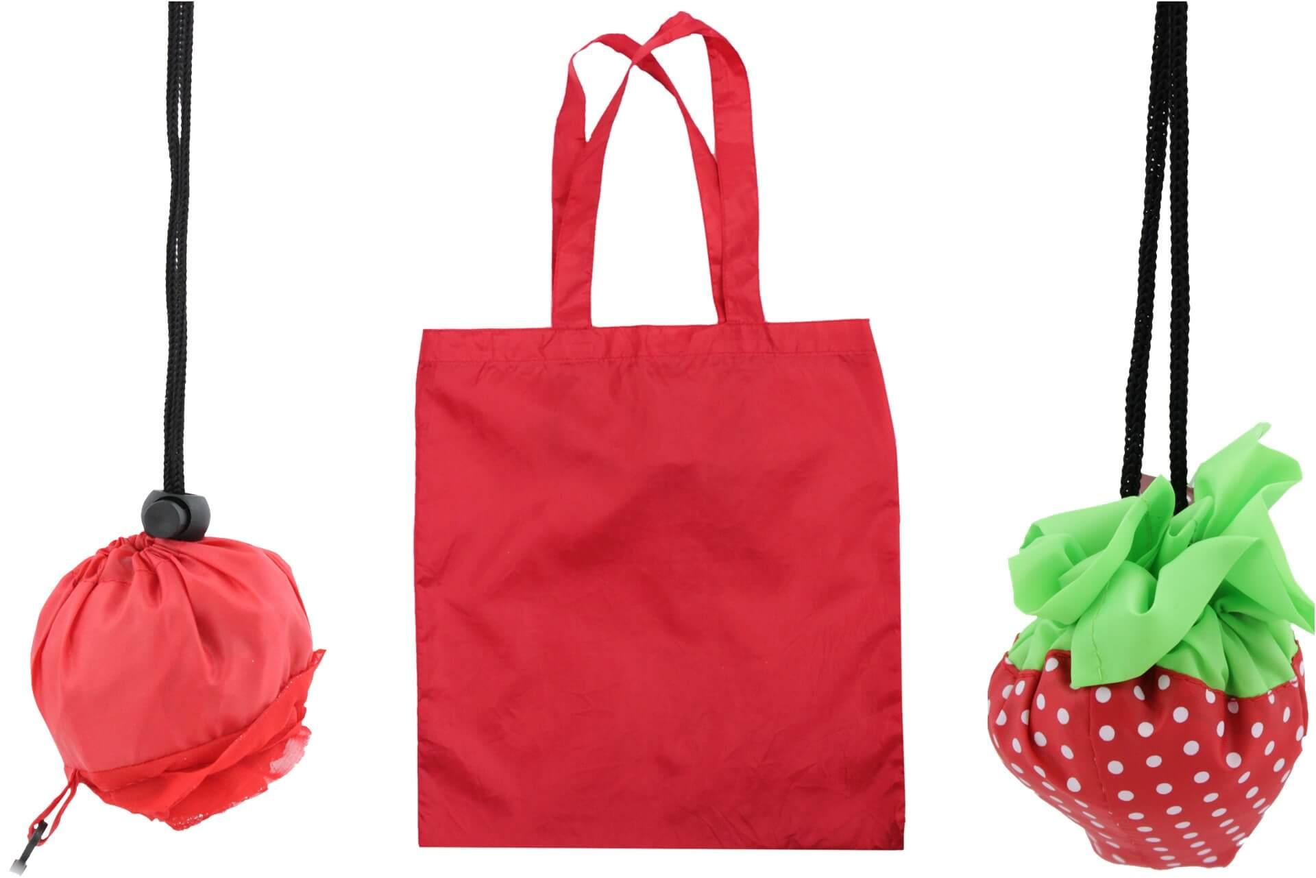 Składana torebka na zakupy ze sznurkiem l Chomik Gdów